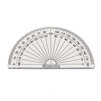 Classmaster branded clear protractor