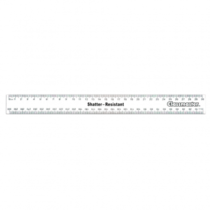 30cm clear rulers with metric measurements