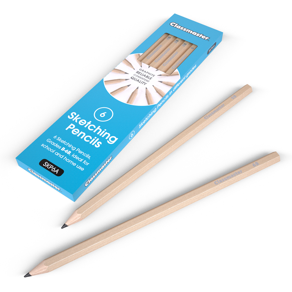 Graphite sketching pencils pack of 6 eastpoint