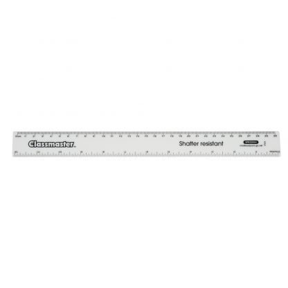 30cm white rulers in a pack of 100 with classmaster branding