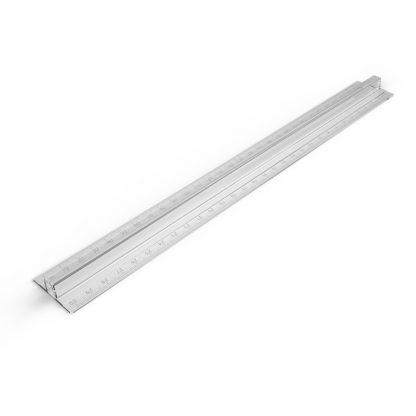 Fingergrip Rulers, clear in a pack of 10, with a raised centrepiece and metric measurements