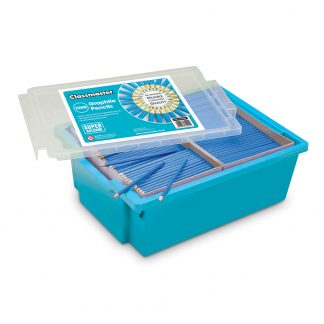Pack of 1500 HB Graphite Pencils in a handy blue Gratnells tray