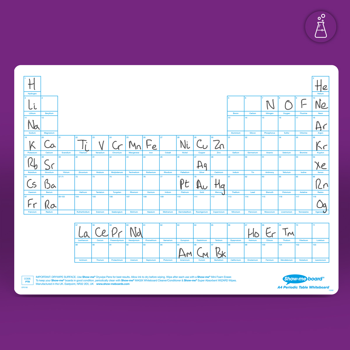 A4 Periodic Table Drywipe Boards Eastpoint