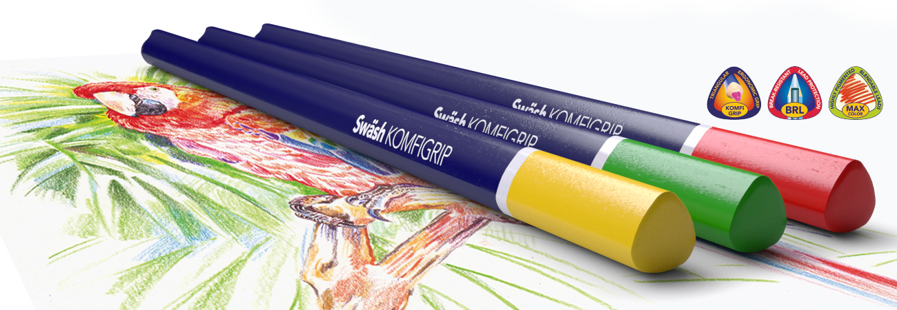 KOMFIGRIP Colouring Pencils